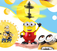 Promotional flying minion aircraft mini airplane toys
