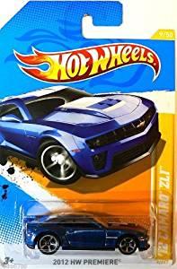 2012 Hot Wheels PREMIERE '12 Camaro ZL1 Blue #9/247