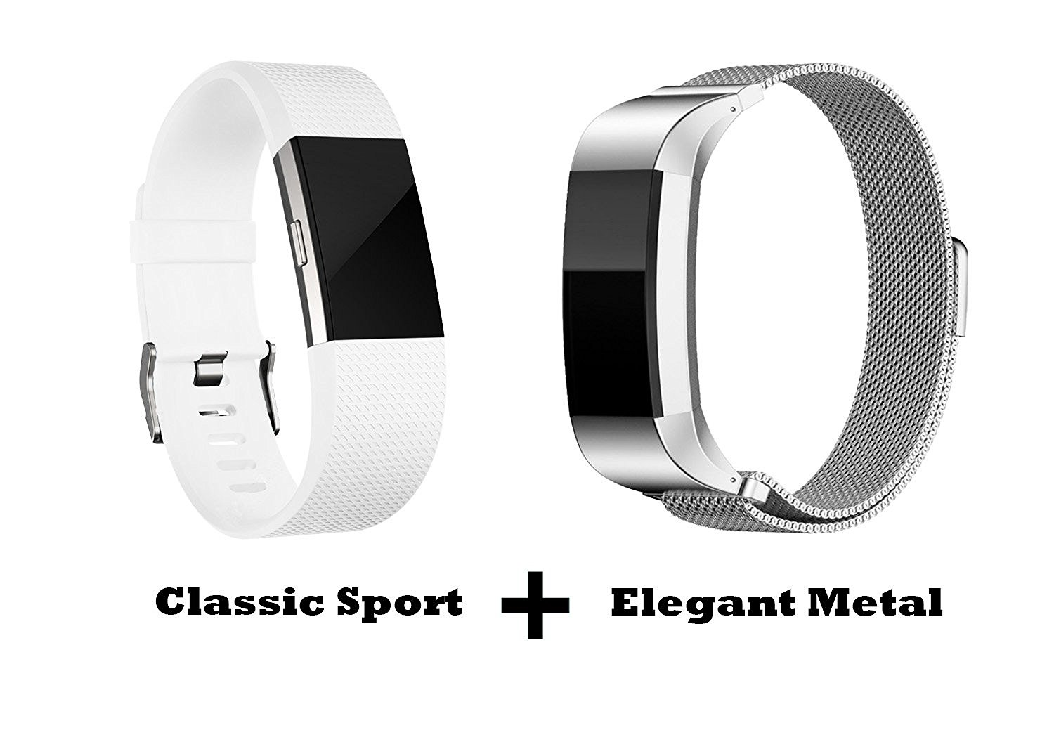Buy Humenn Fitbit Charge 2 Bands, Sport and Metal