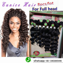 "Brazillian Curly Hair #1b/BUG Ombre Two Tone Human weave 8Bundles Brazilian Curly Hair mixed 8-14""inch kinky curly human weave"