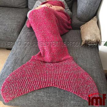 Crochet Mermaid Deckemeerjungfrau Schwanz Kuscheln Decken Buy
