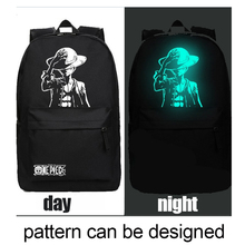 China Supplier Guangzhou Bag Factory New Design Night Light Backpack Luminous Printing Backpack
