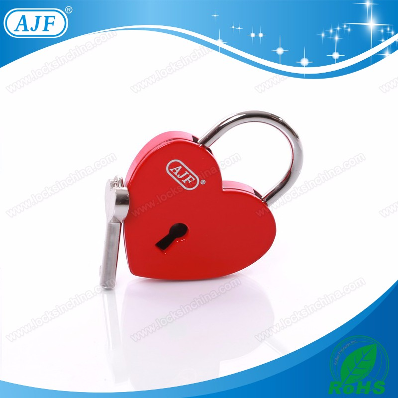 2020 valentines day gift red heart love padlock,candado corazon