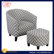 AC-167 Soft Styling Fabric Modern Ottoman Sofa Chair