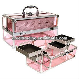 467c4916e Acrylic Makeup Train Case Pink - Buy Aluminium Lighted Makeup Train ...