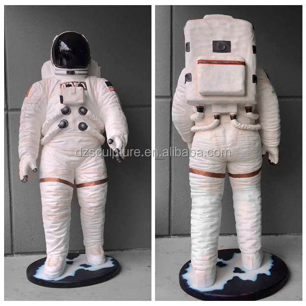 Customized fiberglass life size astronaut statue for sale