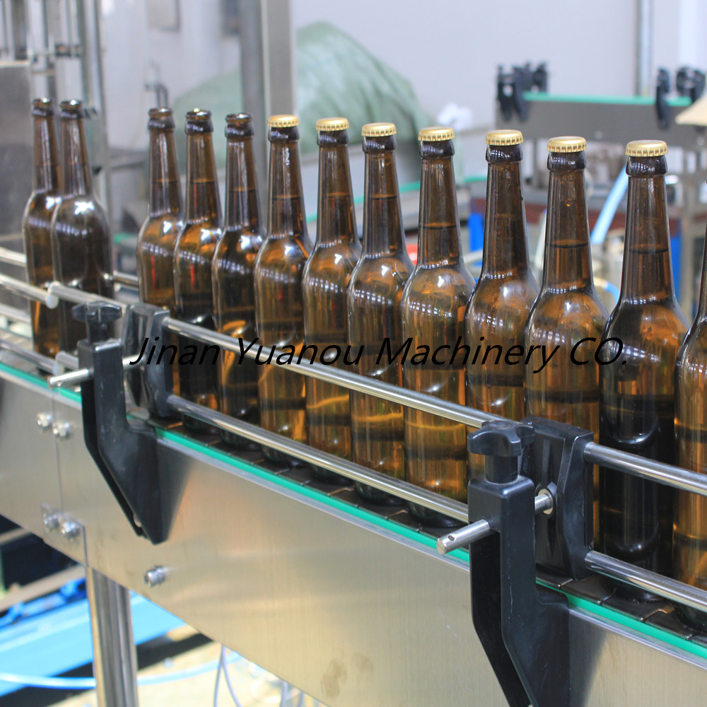 1000 bph Full automatic 3 in 1  bottle beer filling /cap/washing equipement