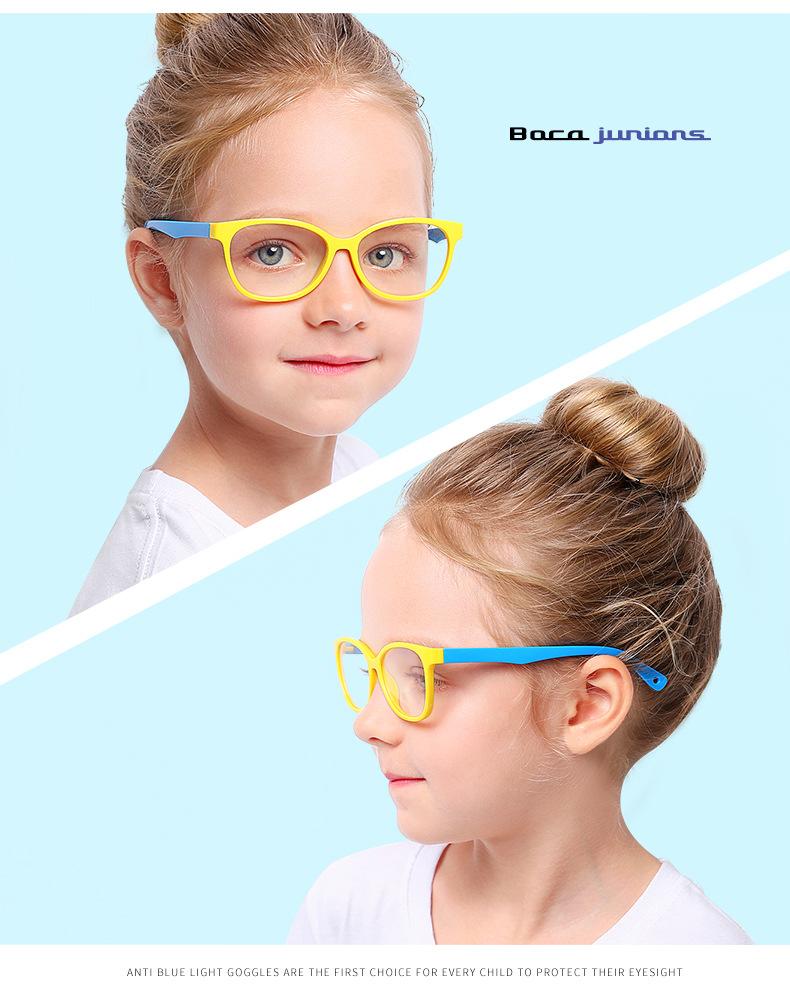 2020 Mode Jungen Mädchen Tr90 Brillen Kinder Anti