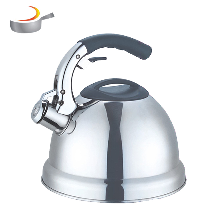 Home Appliance Flat Induction Bottom Mirror Polish Stainless Steel Whistling Kettle Teapot Tea Kettle with Bakelite Handle