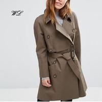 2017 Classic blank office lady elegant long woolen jackets women winter coats