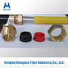 Yellow PE coated stainless steel csst corrugated gas connector hose