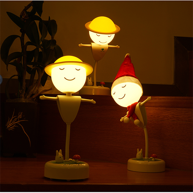 portable USB rechargeable LED creative gift night light lamp for kids
