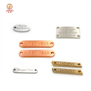 Alibaba reliable supplier custom metal clothing label maker