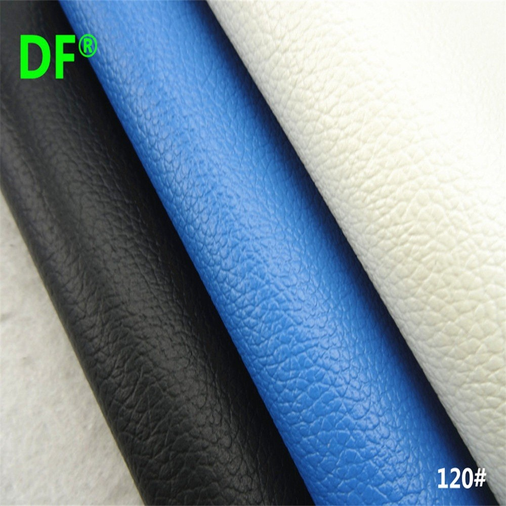 120 # Lichee Pattern PVC Artificial Leather Material Fabric Faux Leather