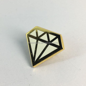 custom soft enamel diamond shaped shoe decorative pin