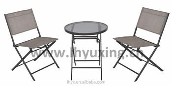 Incredible Outdoor 3Pcs Garden Folding Bistro Set Foldable Chair And Table Bistro Set Folding Sling Chair And Folding Glass Table Set Buy Garden Bistro Bralicious Painted Fabric Chair Ideas Braliciousco