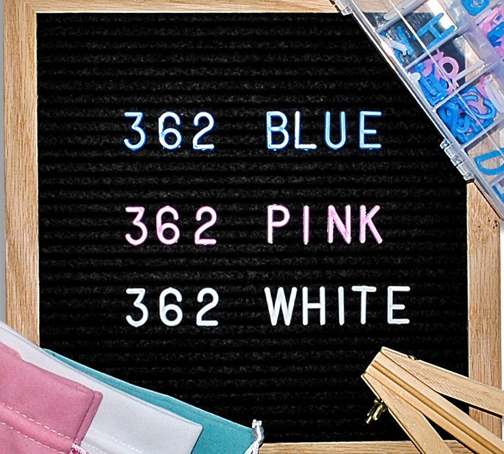 Changeable Letter Board | Black Felt | 10 x 10 inch | Oak Frame | 3 Letter Colors | Emojis | Character Storage Tray | Mounting Bracket | Attached Stand | 3 Bags | BONUS Wooden Stand