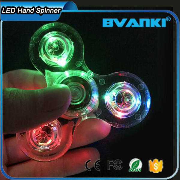 New Idea Fast Spin With Ceramic 608 Bearings Mix Color LED Flashing Hand Spinner
