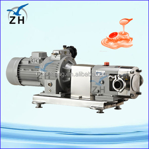 electric driving gear transporting sanitary fluids pump rotary lobe pump manufacturers