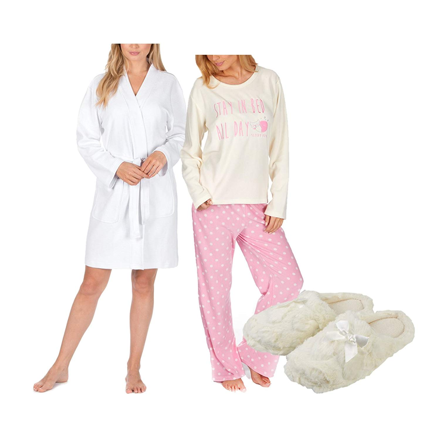 Get Quotations · Forever Dreaming Ladies Maternity Pyjama Robe   Slippers  Set cfe81f06b