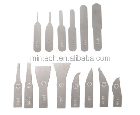 14pcs IC Chip Repair Thin Blade Tool CPU Remover for iPhone Processors NAND Flash Mainboard Repair Tool