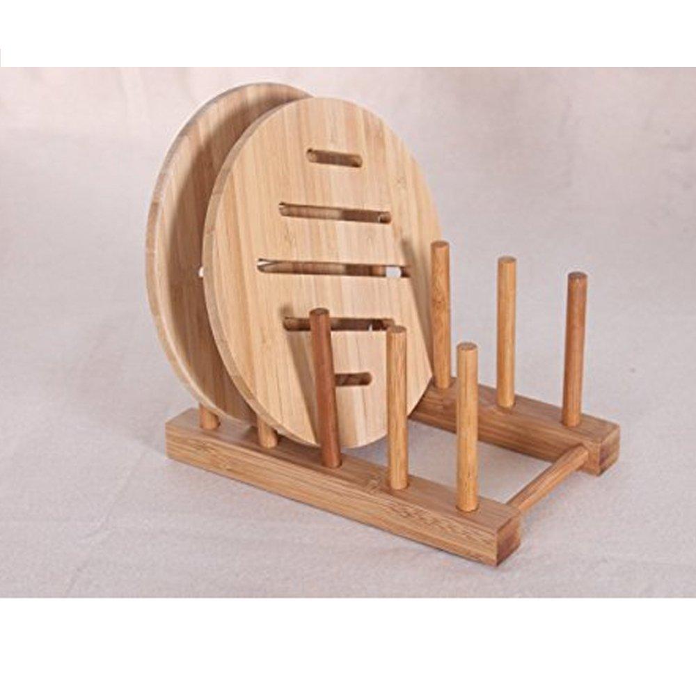Buy SIO Multi-purpose Wooden Plate Rack Wood Stand Display Holder ...