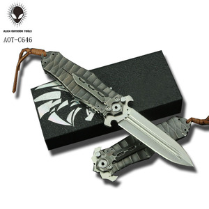 Imported D2 Knife Folding Blade For Camping Hunting Tactics Knife