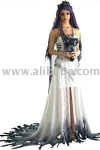 Deluxe adult corpse bride corpse bride fancy dress buy for Corpse bride wedding dress for sale