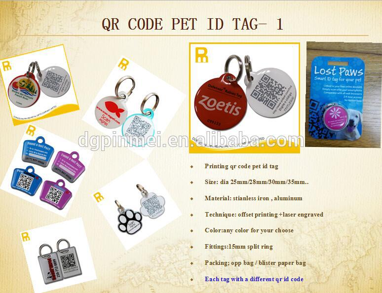 2015 new design dog qr tag for dog and cat