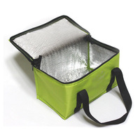 Yellow non woven pizza cooler bag