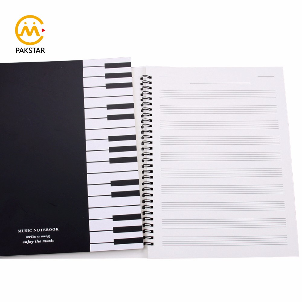 Wholesale cheap custom kraft paper cover spiral notebook with pen for student