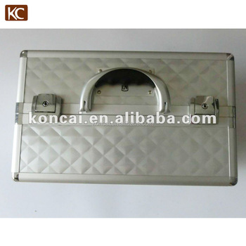 High Quality Aluminum Makeup Case,Beauty Case Made of Water-cube Shaped ABS Panel with Smooth/Slide Aluminum Frame,Without Screw