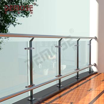 Moderne Holztreppe Gelander Mit Glas Panel Fur Buro Oder Schule