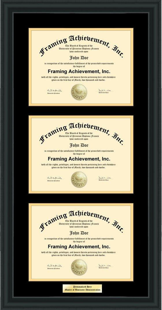 Buy Framing Triple College Degree Frame Three 3 License Certificate ...