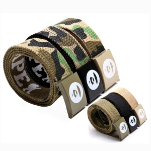 Top quality good service factory nylon woven printed designer training security belt