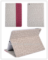 Newest pu leather case Leopard And Cover luxury high quality Flip Case For iPad 2/3/4