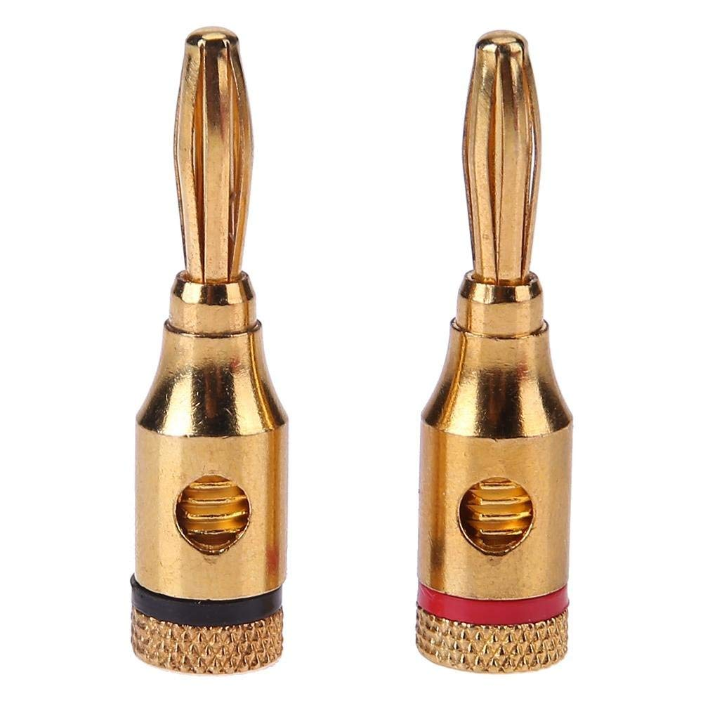 Audio Cable Connectors,2pcs Gold-plated Banana Plugs Musical Audio Speaker Cable Wire Connectors
