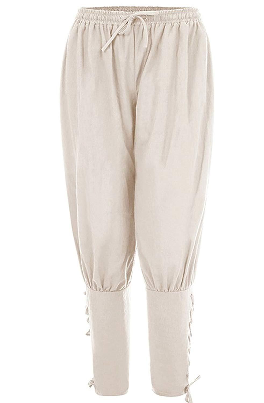 7a637f0a8bfe Get Quotations · Hotmiss Men's Banded Pants Medieval Viking Navigator  Trousers Renaissance Pants