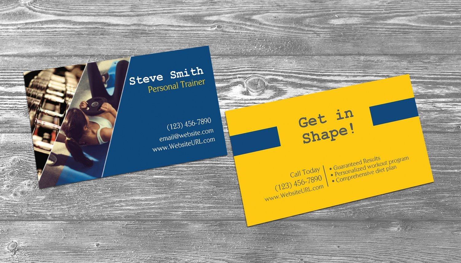 Get Quotations Personal Trainer Business Cards