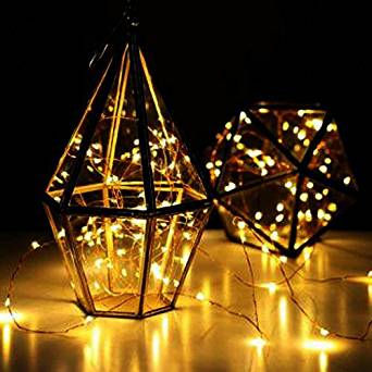 Battery Operated Fairy String Lights - LEDniceker Starry Lights Fairy Lights Copper Wire LED Lights String AA Battery Powered Ultra Thin String Wire 7ft 20 LEDs(Yellow Light, Battery not Included)