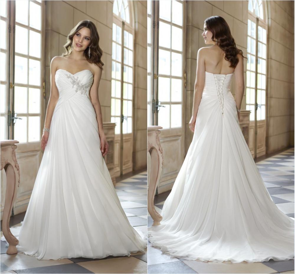 Cheap Casual Wedding Dresses: Cheap Price High Quality Simple Chiffon Casual 2014 Beach