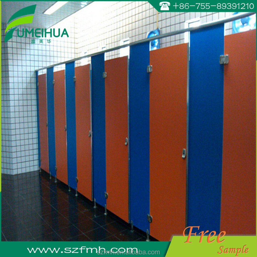 hpl toilet partition and shower material with nylon accessories
