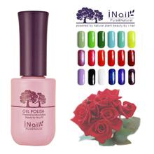 free shipping 6pcs UV LED lamp Inail Rose Aroma soak off Nail Gel 15ml 78 pure