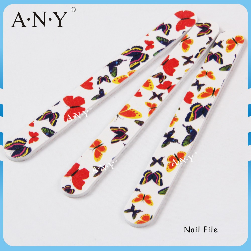 Nail Art Polishing and Shining Beautiful Butterfly Nails Files 100 180 Grit