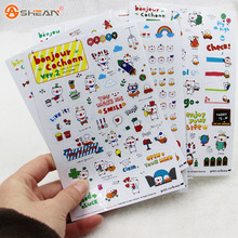 1 Pack/6 Sheets Lovely Pig Transparent Planner Calendar Book Diary Sticker Scrapbook Decoration Office Stationery