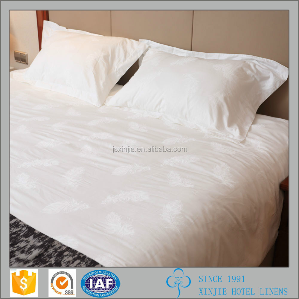 Fashion 100% cotton hotel bedding set and factory sale bed linen