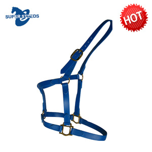 Colorful Waterproof Nylon Equestrian Horse Halter With Brass Buckle