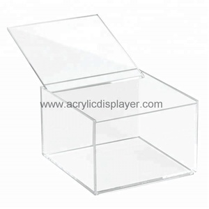 Customize pmma case clear acrylic boxes waterproof