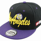 LOS ANGELES city purple black embroidery cotton snapback hip pop flat cap and hat