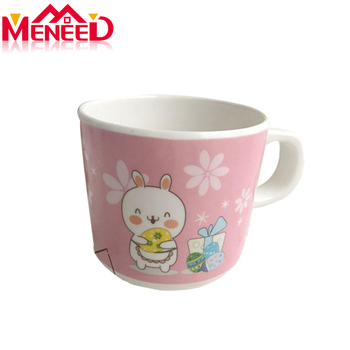 Food grade BPA free houseware cute melamine milk cup wholesale